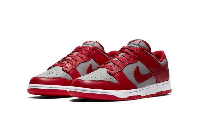Nike Dunk Low Retro Medium Grey Varsity Red  (1)