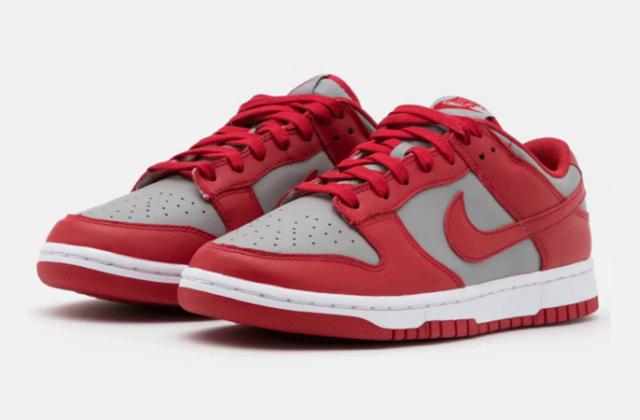 Nike Dunk Low Retro Medium Grey Varsity Red  (3)