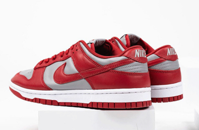 Nike Dunk Low Retro Medium Grey Varsity Red  (4)