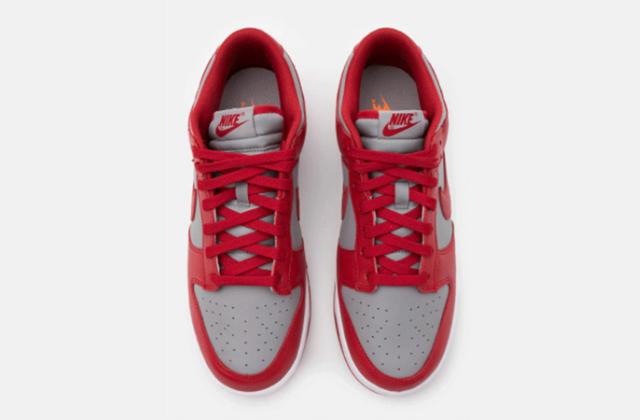 Nike Dunk Low Retro Medium Grey Varsity Red  (5)