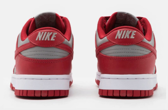 Nike Dunk Low Retro Medium Grey Varsity Red  (6)